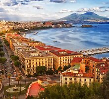 The gulf of Naples by Giuseppe Esposito