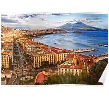 The gulf of Naples Poster