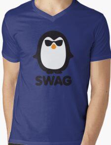 SWAG Pinguin Mens V-Neck T-Shirt