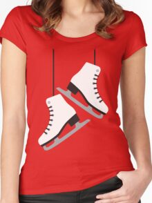White female Skates Women's Fitted Scoop T-Shirt