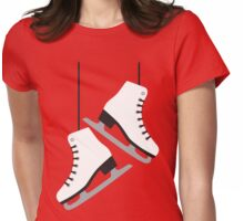 White female Skates Womens Fitted T-Shirt