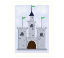 Cartoon Castle Art Print