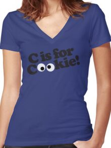 C is for Cookie Women's Fitted V-Neck T-Shirt