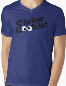 C is for Cookie Mens V-Neck T-Shirt