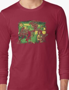Jurassic Xenomorphs Parody Mashup Long Sleeve T-Shirt