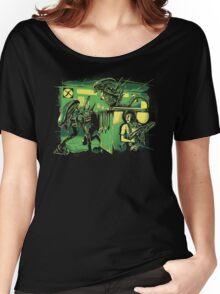 Jurassic Xenomorphs Parody Mashup Women's Relaxed Fit T-Shirt
