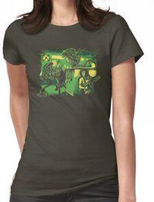 Jurassic Xenomorphs Parody Mashup Womens Fitted T-Shirt