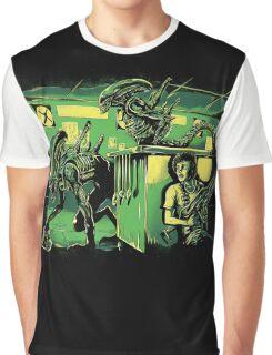 Jurassic Xenomorphs Parody Mashup Graphic T-Shirt