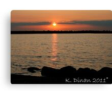 Sunset Into the Sea Canvas Print