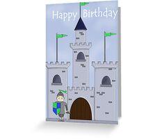 Sir Knight's Castle Birthday Greeting Card