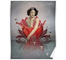 Floating Flower Poster