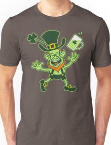 Euphoric Leprechaun Celebrating St Patrick's Day Unisex T-Shirt