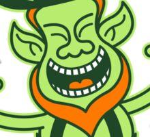 Euphoric Leprechaun Celebrating St Patrick's Day Sticker