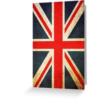 Grunge Effect Union Jack Greeting Card