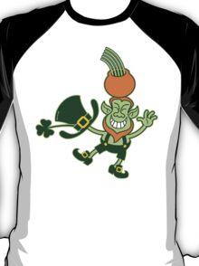 Green Leprechaun Balancing a Pot on his Head T-Shirt