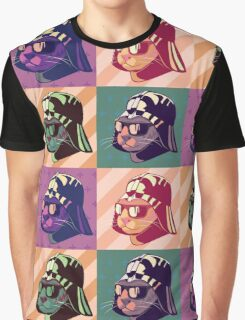 Darth Kitty Pop - Pastel Graphic T-Shirt