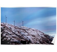 Windmills on a Mountain Photography Print Poster