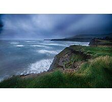 Storm clouds, Kimmeridge Bay, Dorset Photographic Print