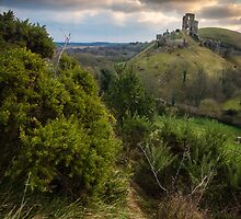 Sunrise, Corfe Castle, Dorset by muphotographic