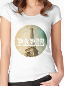 old fashioned paris The Eiffel Tower  Women's Fitted Scoop T-Shirt