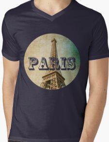 old fashioned paris The Eiffel Tower  Mens V-Neck T-Shirt
