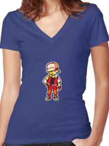 Red is the BEST !  Women's Fitted V-Neck T-Shirt