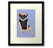 sun's out pugs out Framed Print