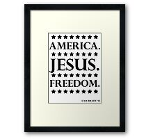 America. Jesus. Freedom. - The Campaign Framed Print