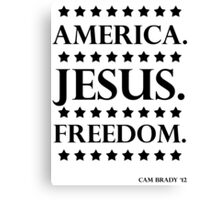 America. Jesus. Freedom. - The Campaign Canvas Print