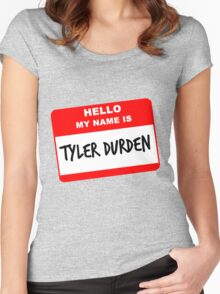 My Name Is Tyler Durden Women's Fitted Scoop T-Shirt