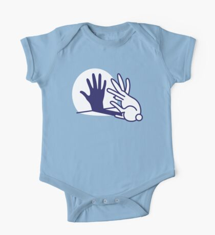 hand shadow rabbit One Piece - Short Sleeve