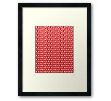 Netflix pattern Framed Print