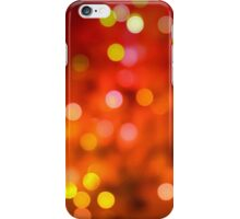 Red Orange Bokeh Lights iPhone iPod Case iPhone Case/Skin