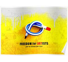 Freedom For Artists Poster