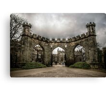 HDR Auckland Castle Entrance Canvas Print