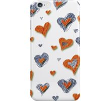 Scribbled Hearts iPhone iPod Case iPhone Case/Skin