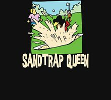 Golfer Sand Trap Queen Womens Fitted T-Shirt