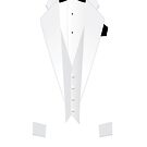 White Formal Tuxedo Suit iPad Case / iPhone 5 Case / iPhone 4 Case by CroDesign