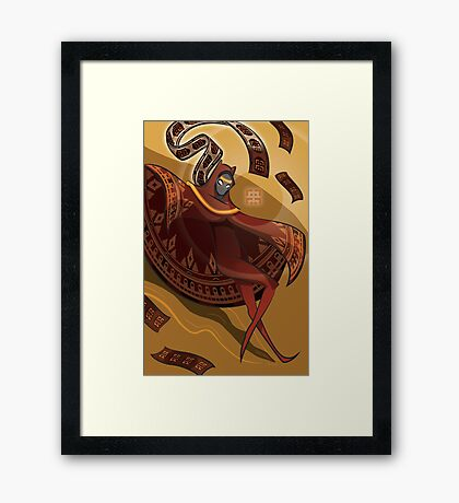 Journey Red Framed Print