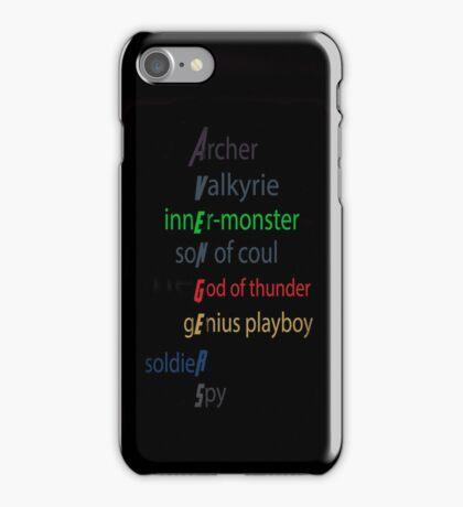 Earth's Mightiest Heroes Type Thing iPhone Case/Skin