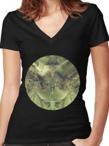 Metallic Curtain Women's Fitted V-Neck T-Shirt