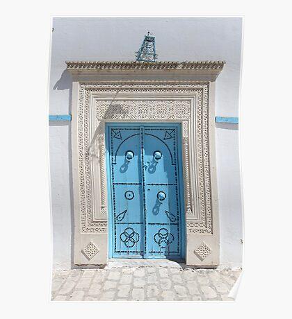 old Blue door Poster