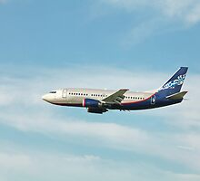 Boeing 737 in flight by mrivserg