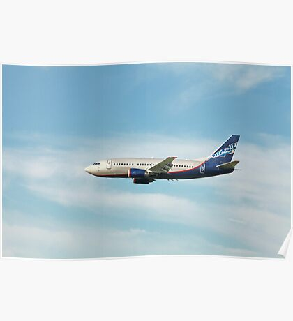 Boeing 737 in flight Poster