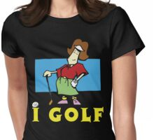 I Golf Woman Womens Fitted T-Shirt