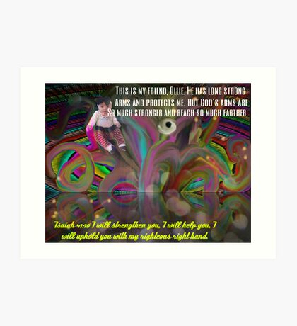 God's Righteous Right Hand Protects Our Precious Children Art Print