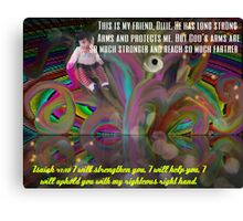God's Righteous Right Hand Protects Our Precious Children Canvas Print