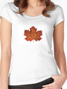 Fall Maple Leaf Women's Fitted Scoop T-Shirt