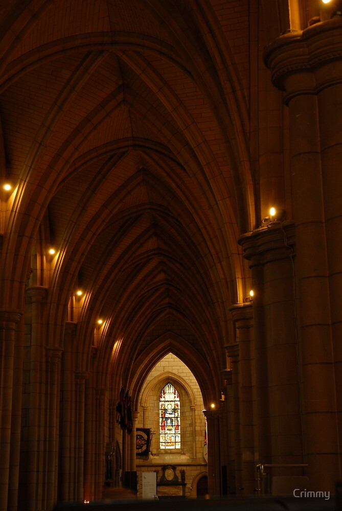 Corridor at Truro Cathedral by Crimmy