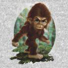 Little Bigfoot Sasquatch Tee by MudgeStudios